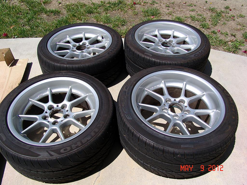 E39 Fs Bbs Rk 003 Amp 005 17 X 8 5 Et 15mm 17 X 10 Et 28mm Wheels With Khumo Tires 1200
